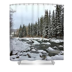 Shower Curtain featuring the photograph Eagle River Wilderness by Dan Miller
