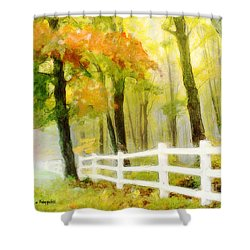 Early Autumn Morning Shower Curtain