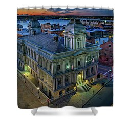 Shower Curtain featuring the photograph Early Morning In The Old Port by Rick Berk
