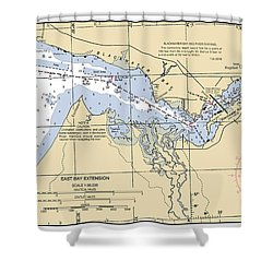 East Bay Extension Noaa Chart 11385_5 Shower Curtain