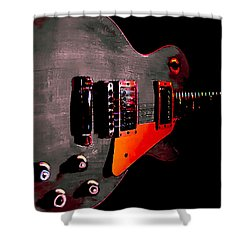 Ebony Relic Guitar Hover Series Shower Curtain