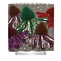 Echinacea Flowers Dance Shower Curtain