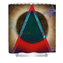 Shower Curtain featuring the digital art Eclipse 2024 by Edmund Nagele