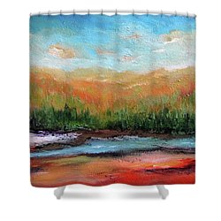 Edged Habitat Shower Curtain