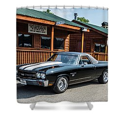 Shower Curtain featuring the photograph El Camino by Michael Sussman