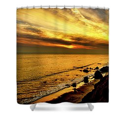 El Matador Beach Sunset Shower Curtain