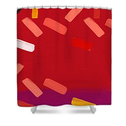 Shower Curtain featuring the mixed media Elation 1- Abstract Art By Linda Woods by Linda Woods