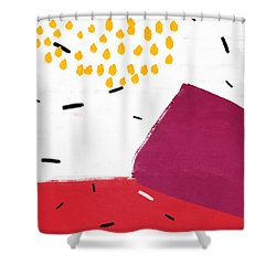 Shower Curtain featuring the mixed media Elation 2- Abstract Art By Linda Woods by Linda Woods
