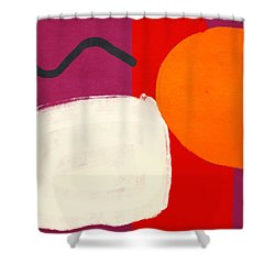 Shower Curtain featuring the mixed media Elation 3- Abstract Art By Linda Woods by Linda Woods