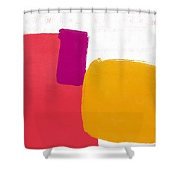 Shower Curtain featuring the mixed media Elation 4- Abstract Art By Linda Woods by Linda Woods