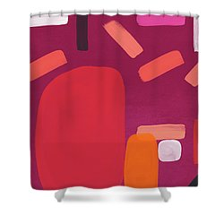 Shower Curtain featuring the mixed media Elation 5- Abstract Art By Linda Woods by Linda Woods