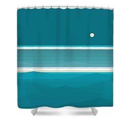 Elements - Aqua Water Shower Curtain