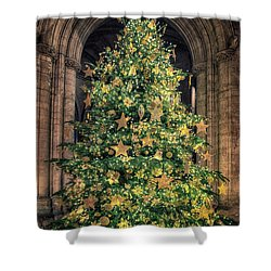Ely Cathedral Christmas Tree 2018 Shower Curtain
