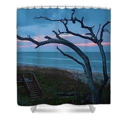 Emerald Isle Obx - Blue Hour - North Carolina Summer Beach Shower Curtain