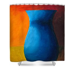 Empty Vases- Blue Shower Curtain