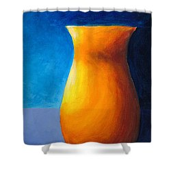 Empty Vases - Orange Shower Curtain
