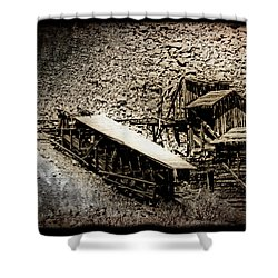 End Of The Line Mine Shower Curtain
