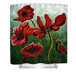 Endless Poppy Love Shower Curtain