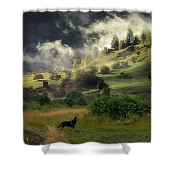 English Courtryside Shower Curtain
