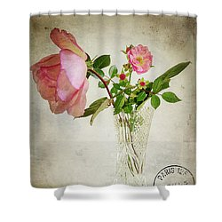 Shower Curtain featuring the digital art English Rose by Edmund Nagele