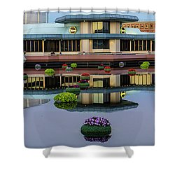 Epcot Lake Flowers Shower Curtain