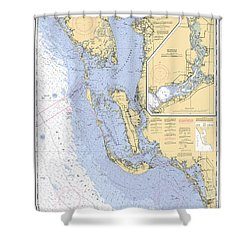 Estero Bay To Lemon Bay, Noaa Chart 11426 Shower Curtain