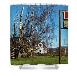 Evergreen Golf Course Shower Curtain