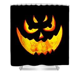 Evil Glowing Pumpkin Shower Curtain