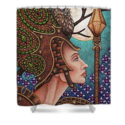 Exalted Beauty Athena Shower Curtain