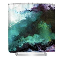 Shower Curtain featuring the painting Exodus 14 14. The Lord Shall Fight For You by Mark Lawrence
