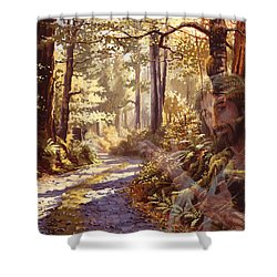 Explore With Me Shower Curtain