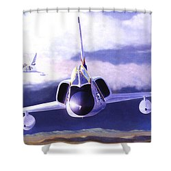 F-106a Head-on Shower Curtain