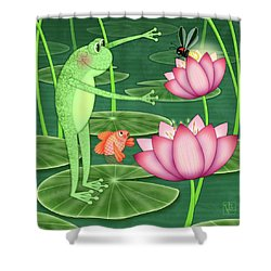 F Is For Frog Shower Curtain