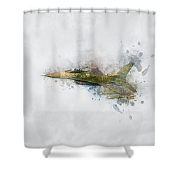 F16 Fighting Falcon Shower Curtain