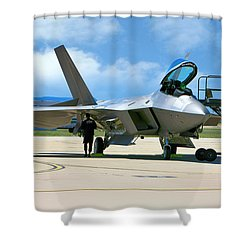 F22 Rapter Shower Curtain