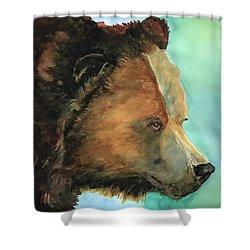 Face To Face Bear Shower Curtain