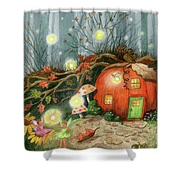 Fairy And Firefly Fantasy Shower Curtain