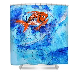 Fake Nemo Fish Shower Curtain