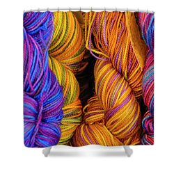 Fall Fibers Shower Curtain