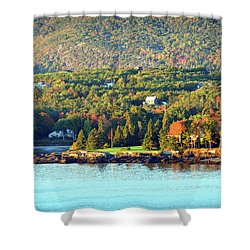 Shower Curtain featuring the photograph Fall Foliage In Bar Harbor by Bill Swartwout Fine Art Photography