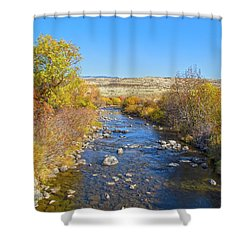 Shower Curtain featuring the photograph Fall Foliage In Idaho by Dart and Suze Humeston