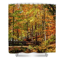Fall Hike At Mirror Lake Shower Curtain