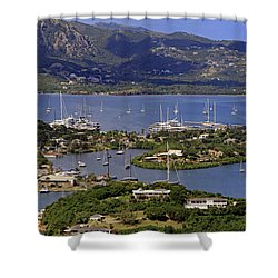 Shower Curtain featuring the photograph Falmouth Harbour by Tony Murtagh
