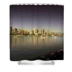 False Creek Golden Hour Shower Curtain