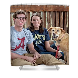 Family Dog Shower Curtain
