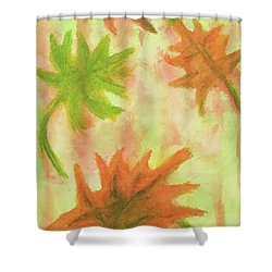 Fanciful Fall Leaves Shower Curtain
