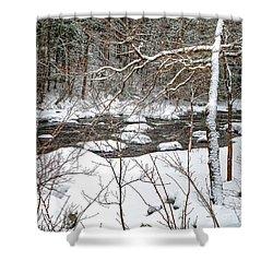 Farmington River - Northern Section Shower Curtain