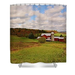 Shower Curtain featuring the photograph Farmland In Autumn by Angie Tirado