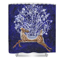 Fawn Bouquet Shower Curtain