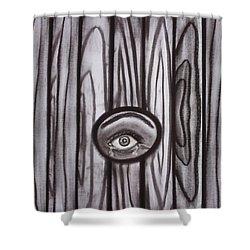 Fear - Eye Through Fence Shower Curtain